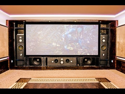 Home Theater. Custom design, components, installation. See front speakers. (видео)