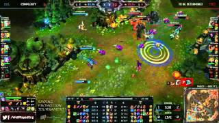 TBD (Westrice Rengar) VS CoL (Megazero Riven) Highlights - NA LCS Spring Promotion 2014