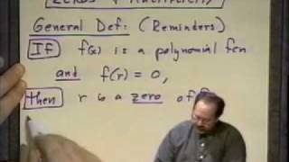 College Algebra - Lecture 24 - Polynomial And Rational Functions