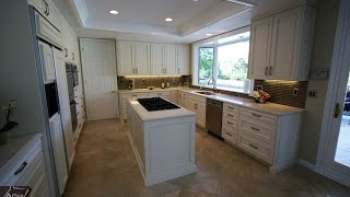 Custom White Transitional Design Build Kitchen in Coto De Caza