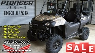 10. 2017 Honda Pioneer 700-4 Deluxe (Camo) Review of Specs / SALE @ Honda of Chattanooga TN