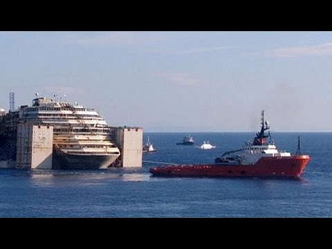'It's - Manoeuvres have begun to remove the wreckage of the Italian cruise liner Costa Concordia from Giglio island. Tug boats is swinging the 114500-tonne ship around to the east. Once it is facing...