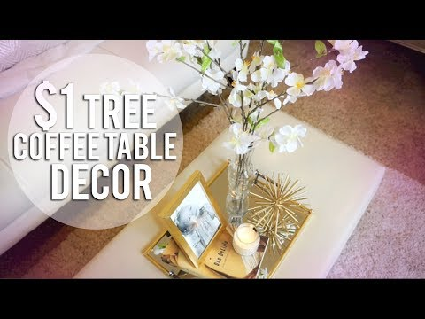 DOLLAR TREE DIY - 4 Coffee Table Decor Ideas (видео)