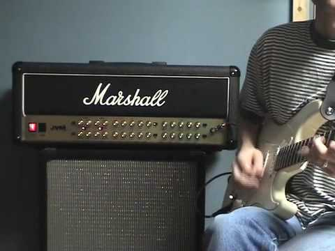 marshall - http://www.MasterGuitarAcademy.com A great 100 watt Marshall head. The JVM is a great sounding amp with a lot of versatility. I used a Suhr Classic guitar fo...