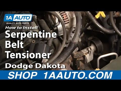 How To Install Replace Serpentine Belt Tensioner Dodge Dakota Durango 92-03 1AAuto.com