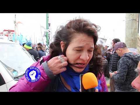 Paro y Movilización en oposición a la reforma previsonal en Rio Grande