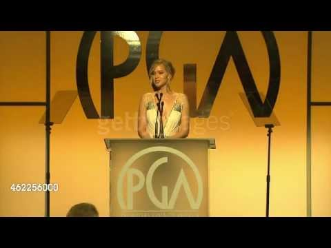 Jennifer Lawrence presenting at Producers Guild Awards!