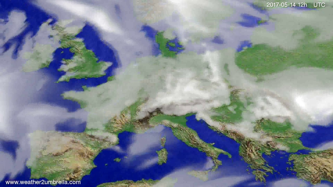 Cloud forecast Europe 2017-05-12