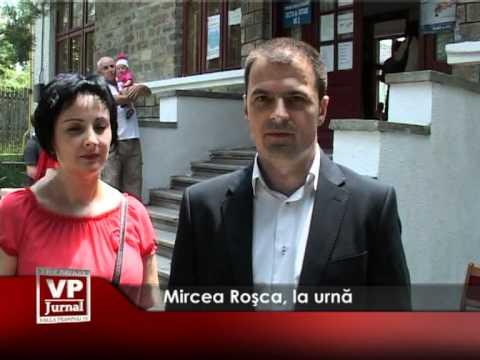 Mircea Roşca la urnă