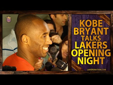 lakers - Before Lakers Opening Night Vs. Dwight Howard and the Houston Rockets, Kobe Bryant is asked whether he thinks the Lakers are a playoff team. Join the Largest Lakers Fan Site in the World http://La.