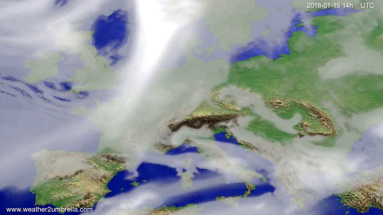Cloud forecast Europe 2018-01-11