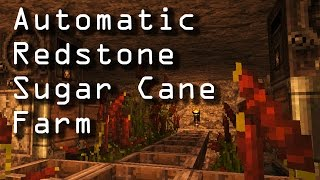 Automatic Sugar Cane Farm :: Redstone :: Minecraft 1.11.0