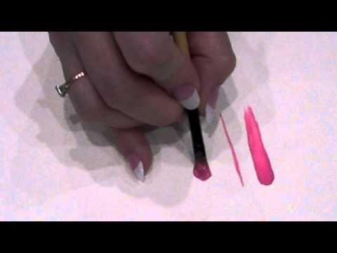 filbert brush - Jill Fitzhenry demonstrates basic brush strokes for the filbert brush.