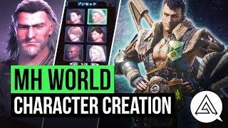 Видео с созданием персонажа в Monster Hunter: World
