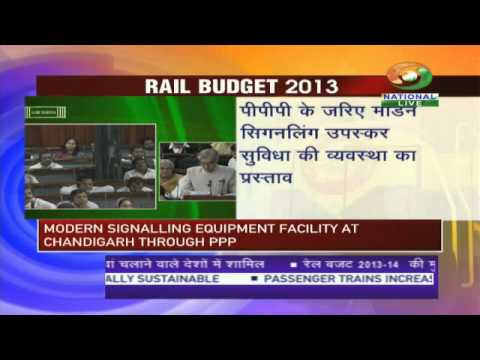 Rail Budget Sessions - Union Railway minister Pawan Kumar Bansal presenting the Railway Budget to the Parliament of India.