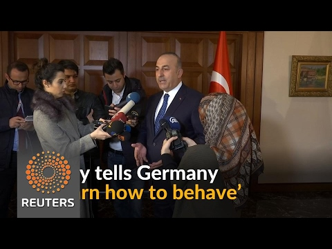 'Learn how to behave', Germany says to Turkey