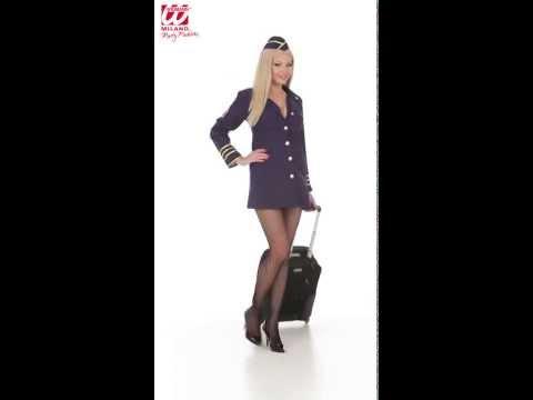 Costume Hotesse de l'Air-v29349