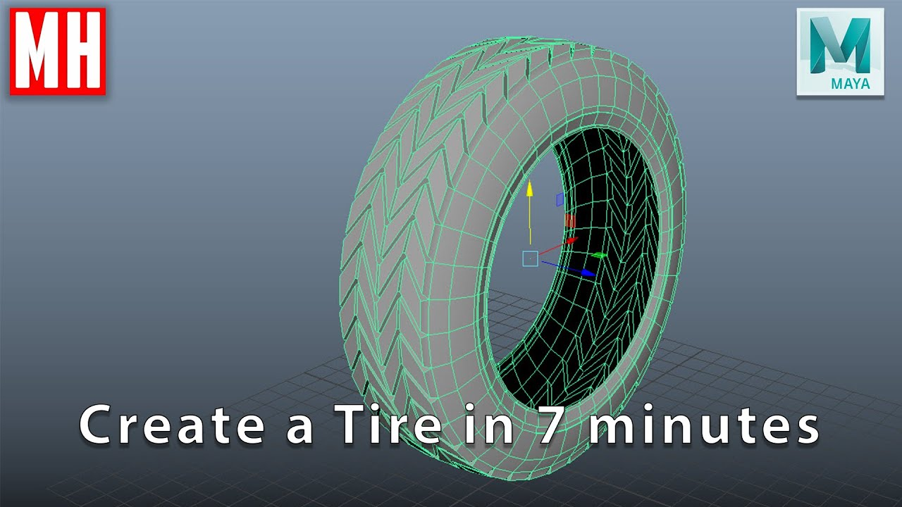 modeling 3d tire maya tutorial