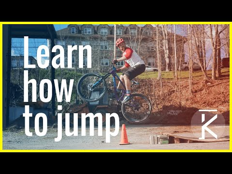 How to Jump a mountain bike beginner tutorial | Skills With Phil (видео)