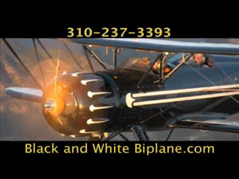 video:Black & White Biplane
