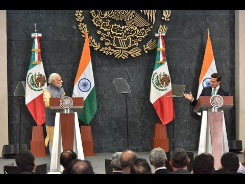 PM Modi at the Joint Press Statements in Mexico City, Mexico