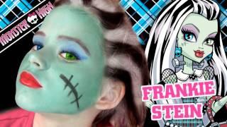 Frankie Stein Monster High Doll Costume Makeup Tutorial for Halloween