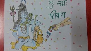 Lord Shiva, Om Namah Shivay , Mahashivratri special drawing fo...