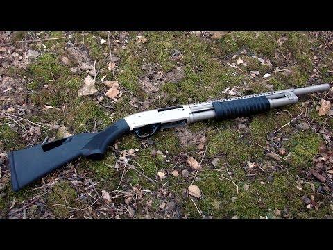 Shooting the Armscor/Rock Island Armory Matte Nickel M5 12 Gauge Fighting Shotgun - Gunblast.com