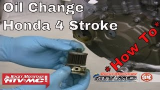 7. How to change oil on a Honda 4 stroke motorcycle