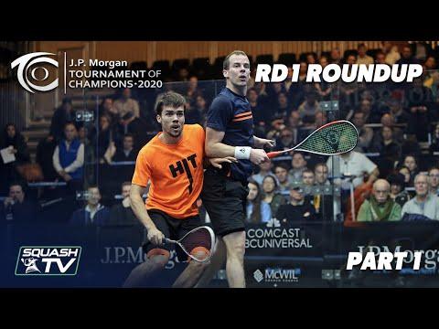Squash: J.P. Morgan Tournament of Champions 2020 - Men's Rd 1 Roundup [Pt.1]