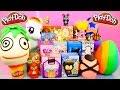 Play-Doh Surprise Eggs Unboxing BFFS Disney Vinylmation Little Mermaid Toys Playdough DCTC Videos