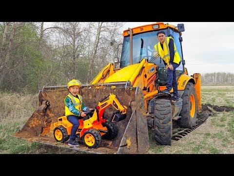 Сеня и Сонный Папа Ремонтируют Сломанные Тракторы