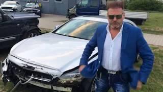 Rutkowski rozbił srebrnego Mercedesa i nagrywa o tym filmik! Lansik musi być :D