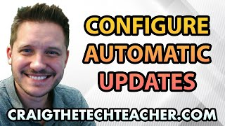 """This video is brought to you by: http://www.craigthetechteacher.com - Windows updates, they're notorious, and obnoxious... but necessary. It's extremely important to always make sure your computer has the latest Windows Updates installed. If you don't have them installed it will likely put your computer's security (as well as your own information) at risk. The good news is Microsoft has come a long way in it's successful distribution of Windows updates. Updating Windows 10 is seamless and painless, not to mention it can now come packed with some additional features and major operating system releases. In case you didn't know, Microsoft has switched to the """"Apple"""" model of rolling out updates for it's operating system. No more purchasing """"Windows 11.. 12... 13... 75"""". That's right! Let's just hope they keep their word on that one.In either case, this video will walk you through updating Windows 10 as well as some advanced features of configuring your Windows 10 automatic updates to be less obnoxious."""