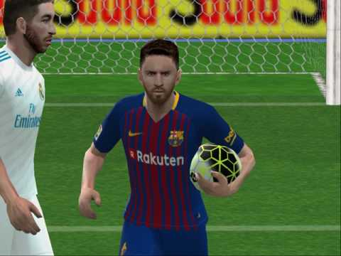PES 2018 (PS2) Real Madrid Vs Barcelona In New Kits Gameplay