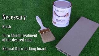 How to Paint Duro composite Decking