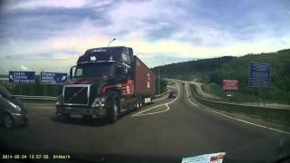 Potężne hamulce ciężarówki Volvo w praktyce, uratowały życie kobiety!