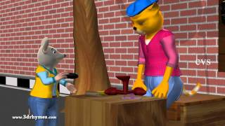 Cobbler Cobbler mend my shoes - 3D Animation English Nursery Rhyme for children (Fun)