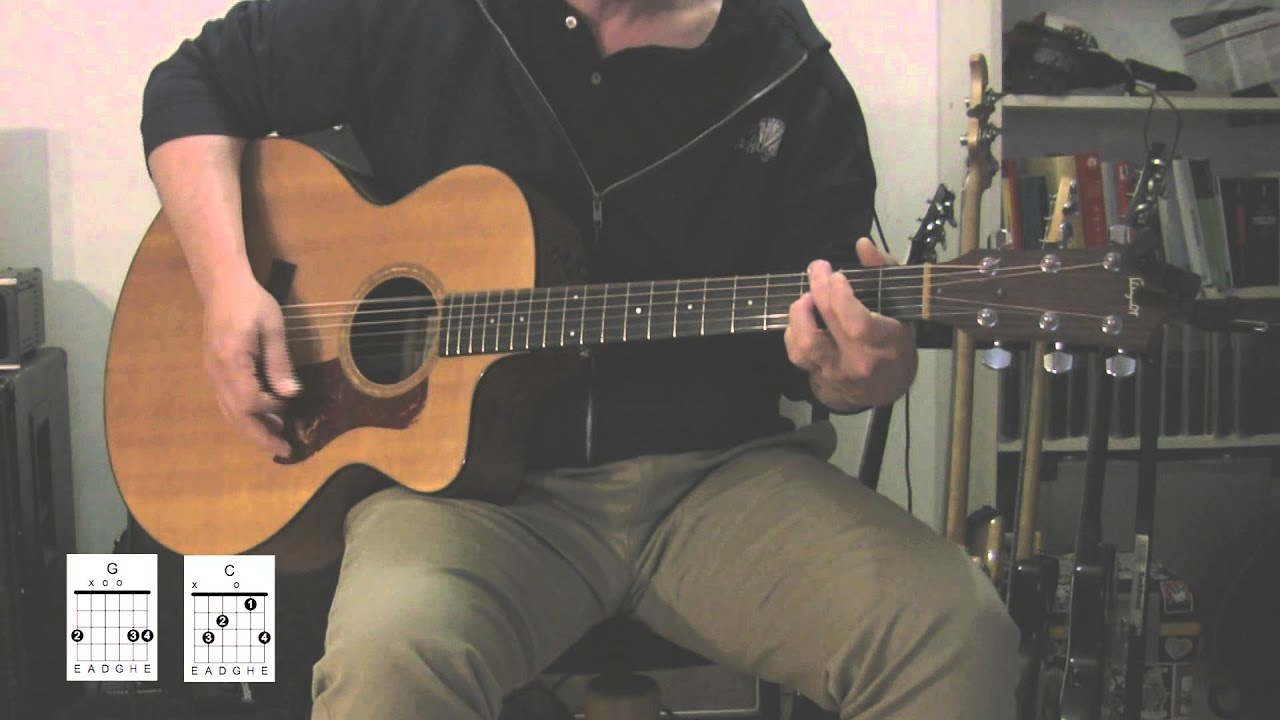 """""""Under Pressure"""" Acoustic guitar with original vocal track, How to play"""