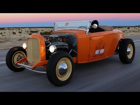 road trip - On this episode of HOT ROD Unlimited, Staff Editor Thom Taylor drives a channeled, topless Deuce roadster in the dead of winter from Nashville to LA, encount...