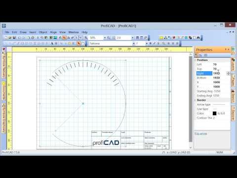 Umdrehen von Grafikobjekten (Zeichnen einer Skala und eines Steckverbinders)