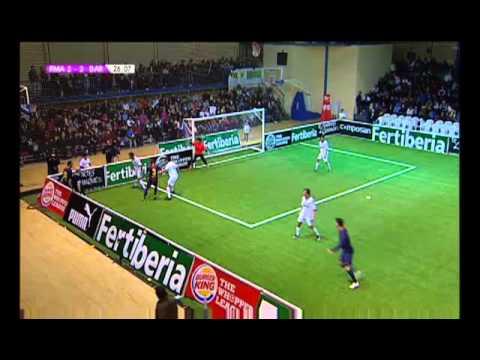 Liga de Fútbol Indoor: Real Madrid-Barcelona (видео)