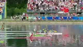 See the close-run final of the women's K1 500M canoe/kayak event at the Beijing 2008 Summer Olympic Games.http://www.olympic.org/canoe-kayak-flatwater-k-1-500m-kayak-single-womenhttp://www.olympic.org/beijing-2008-summer-olympics
