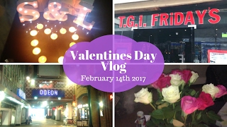 Valentines Day Vlog February 2017 - Gifts, Meal & a Movie