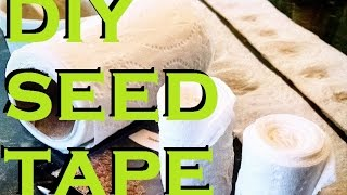 Seed Tape - A Cheap, Fun & Easy DIY