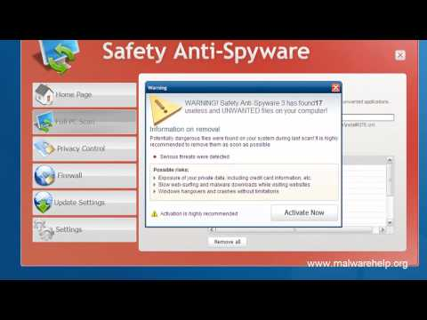 0 Safety Anti Spyware Analysis and Removal
