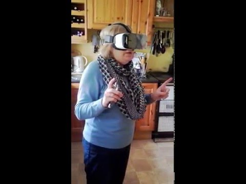 Funny Irish Mammy Using Vr For First Time