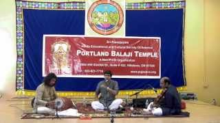 Highlights Of Sikkil Gurucharan Concert At HECSA-Portland Sri Balaji Temple June 1st 2013