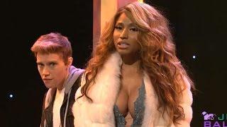 Nicki Minaj Spoofs Kim Kardashian & Beyonce on SNL