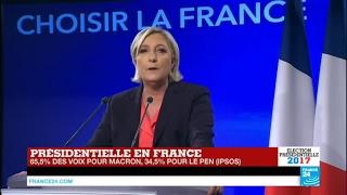 Video REPLAY - Discours de Marine Le Pen, battue à l'élection présidentielle avec 34,9 % des voix MP3, 3GP, MP4, WEBM, AVI, FLV Agustus 2017